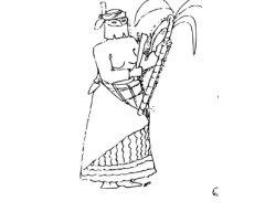 Carnaval de Guyane – La coupeuse de cannes (personnage du Carnaval traditionnel de Guyane)