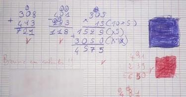 Calculs - Les tehniques opératoires