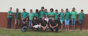 L'équipe de la Canopée et les élèves de CM2D