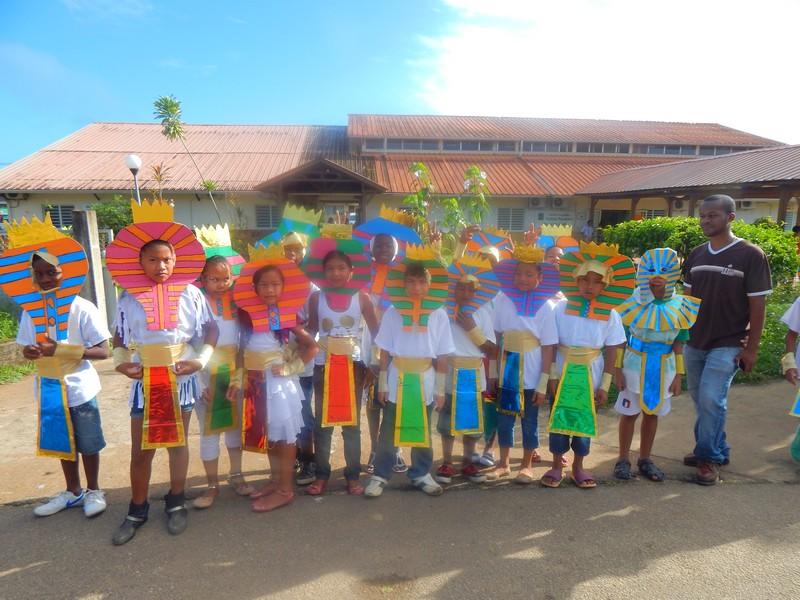Parade dans la commune