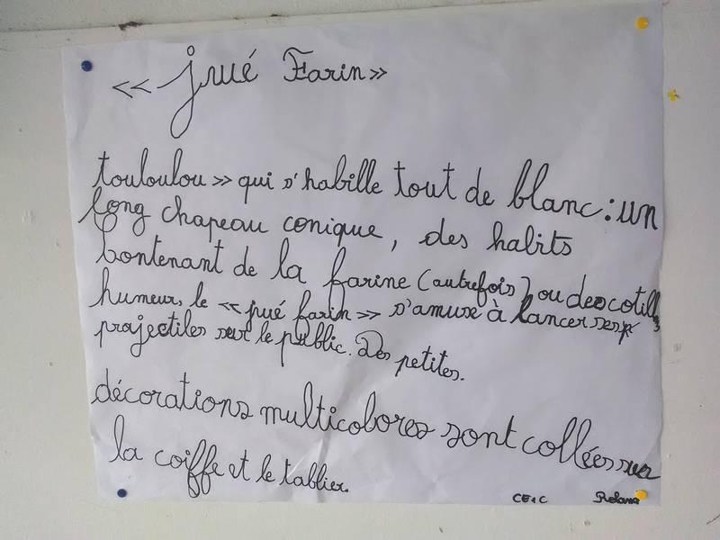 Description du Jé Farin