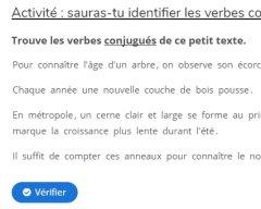 Conjugaison : identifier des verbes conjugués dans un texte documentaire