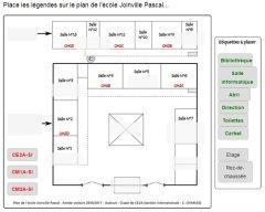 Se situer : légender le plan de l'école Joinville Pascal